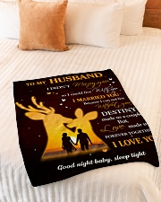 """Gift For Husband Deer - Gifts For Hunters Small Fleece Blanket - 30"""" x 40"""" aos-coral-fleece-blanket-30x40-lifestyle-front-01"""