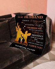 """Gift For Husband Deer - Gifts For Hunters Small Fleece Blanket - 30"""" x 40"""" aos-coral-fleece-blanket-30x40-lifestyle-front-05"""