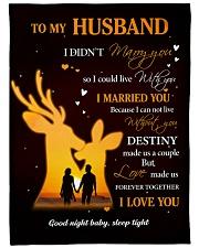 Gift For Husband Deer - Gifts For Hunters Fleece Blanket tile