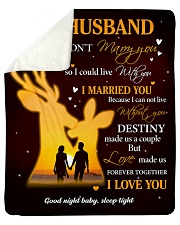 "Gift For Husband Deer - Gifts For Hunters Sherpa Fleece Blanket - 50"" x 60"" thumbnail"