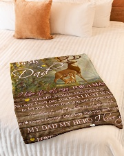 "Gift For Dad - To My Dad Deer Gift Small Fleece Blanket - 30"" x 40"" aos-coral-fleece-blanket-30x40-lifestyle-front-01"