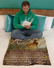 "Gift For Dad - To My Dad Deer Gift Small Fleece Blanket - 30"" x 40"" aos-coral-fleece-blanket-30x40-lifestyle-front-06"
