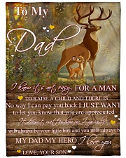 Gift For Dad - To My Dad Deer Gift Fleece Blanket tile
