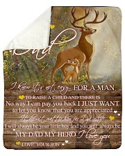 "Gift For Dad - To My Dad Deer Gift Sherpa Fleece Blanket - 50"" x 60"" thumbnail"