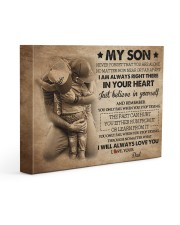 Gift For Son - To My Son 14x11 Gallery Wrapped Canvas Prints front