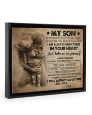 Gift For Son - To My Son 14x11 Black Floating Framed Canvas Prints thumbnail
