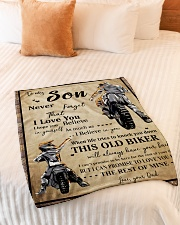 "Gift For Son - To My Son Biker Small Fleece Blanket - 30"" x 40"" aos-coral-fleece-blanket-30x40-lifestyle-front-01"