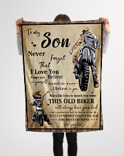 "Gift For Son - To My Son Biker Small Fleece Blanket - 30"" x 40"" aos-coral-fleece-blanket-30x40-lifestyle-front-14"