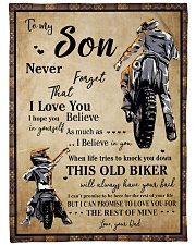Gift For Son - To My Son Biker Fleece Blanket tile
