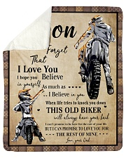 "Gift For Son - To My Son Biker Sherpa Fleece Blanket - 50"" x 60"" thumbnail"