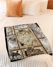 "3D Cat - Gift For Cat Lovers Small Fleece Blanket - 30"" x 40"" aos-coral-fleece-blanket-30x40-lifestyle-front-01"