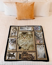 "3D Cat - Gift For Cat Lovers Small Fleece Blanket - 30"" x 40"" aos-coral-fleece-blanket-30x40-lifestyle-front-04"