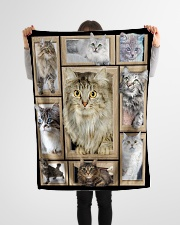 "3D Cat - Gift For Cat Lovers Small Fleece Blanket - 30"" x 40"" aos-coral-fleece-blanket-30x40-lifestyle-front-14"