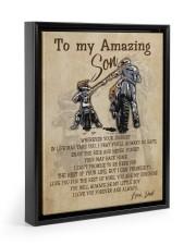 Gift For Son - To My Son Biker Floating Framed Canvas Prints Black tile