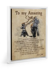 Gift For Son - To My Son Biker 11x14 White Floating Framed Canvas Prints thumbnail