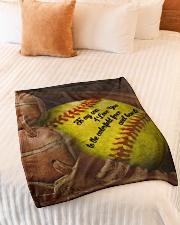 "Gift For Son - To My Son Baseball Small Fleece Blanket - 30"" x 40"" aos-coral-fleece-blanket-30x40-lifestyle-front-01"