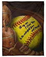 """Gift For Son - To My Son Baseball Small Fleece Blanket - 30"""" x 40"""" front"""