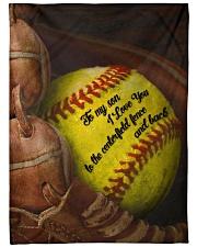 Gift For Son - To My Son Baseball Fleece Blanket tile
