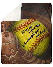 "Gift For Son - To My Son Baseball Sherpa Fleece Blanket - 50"" x 60"" thumbnail"