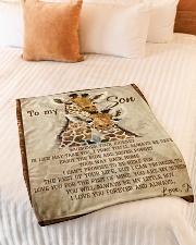 "Gift For Son - To My Son Giraffe Small Fleece Blanket - 30"" x 40"" aos-coral-fleece-blanket-30x40-lifestyle-front-01"