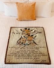 "Gift For Son - To My Son Giraffe Small Fleece Blanket - 30"" x 40"" aos-coral-fleece-blanket-30x40-lifestyle-front-04"