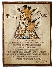 """Gift For Son - To My Son Giraffe Small Fleece Blanket - 30"""" x 40"""" front"""