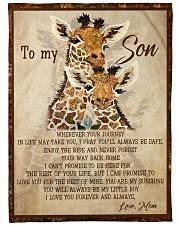 Gift For Son - To My Son Giraffe Fleece Blanket tile