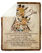 "Gift For Son - To My Son Giraffe Sherpa Fleece Blanket - 50"" x 60"" thumbnail"