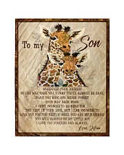"""Gift For Son - To My Son Giraffe Quilt 40""""x50"""" - Baby thumbnail"""