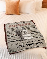 """Gift For Husband - To My Husband Skull Lovers Small Fleece Blanket - 30"""" x 40"""" aos-coral-fleece-blanket-30x40-lifestyle-front-01"""