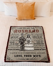"""Gift For Husband - To My Husband Skull Lovers Small Fleece Blanket - 30"""" x 40"""" aos-coral-fleece-blanket-30x40-lifestyle-front-04"""