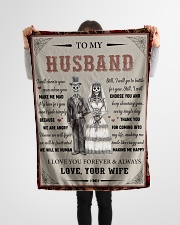 """Gift For Husband - To My Husband Skull Lovers Small Fleece Blanket - 30"""" x 40"""" aos-coral-fleece-blanket-30x40-lifestyle-front-14"""