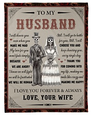 """Gift For Husband - To My Husband Skull Lovers Small Fleece Blanket - 30"""" x 40"""" front"""