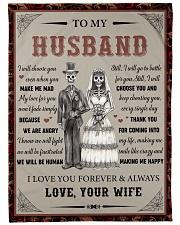 Gift For Husband - To My Husband Skull Lovers Fleece Blanket tile