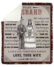 "Gift For Husband - To My Husband Skull Lovers Sherpa Fleece Blanket - 50"" x 60"" thumbnail"