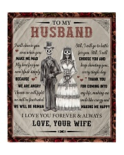 """Gift For Husband - To My Husband Skull Lovers Quilt 50""""x60"""" - Throw thumbnail"""