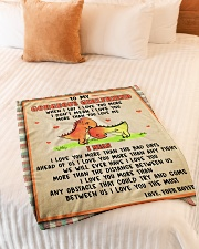 """Gift For Girlfriend - To My Girlfriend Dinosaur  Small Fleece Blanket - 30"""" x 40"""" aos-coral-fleece-blanket-30x40-lifestyle-front-01"""