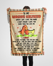 """Gift For Girlfriend - To My Girlfriend Dinosaur  Small Fleece Blanket - 30"""" x 40"""" aos-coral-fleece-blanket-30x40-lifestyle-front-14"""