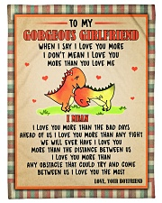 "Gift For Girlfriend - To My Girlfriend Dinosaur  Small Fleece Blanket - 30"" x 40"" front"
