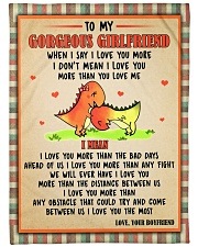 Gift For Girlfriend - To My Girlfriend Dinosaur  Fleece Blanket tile