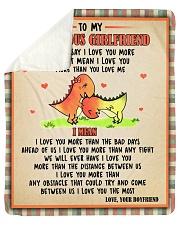 "Gift For Girlfriend - To My Girlfriend Dinosaur  Sherpa Fleece Blanket - 50"" x 60"" thumbnail"