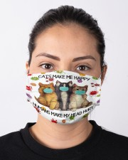 Cats Make Me Happy Humans Make My Head Hurt Cloth Face Mask - 3 Pack aos-face-mask-lifestyle-01