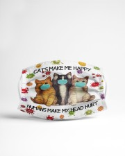 Cats Make Me Happy Humans Make My Head Hurt Cloth Face Mask - 3 Pack aos-face-mask-lifestyle-22