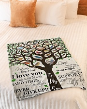 "Gift For Son - To My Son Birth Tree Love Small Fleece Blanket - 30"" x 40"" aos-coral-fleece-blanket-30x40-lifestyle-front-01"