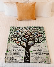"""Gift For Son - To My Son Birth Tree Love Small Fleece Blanket - 30"""" x 40"""" aos-coral-fleece-blanket-30x40-lifestyle-front-04"""