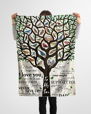 "Gift For Son - To My Son Birth Tree Love Small Fleece Blanket - 30"" x 40"" aos-coral-fleece-blanket-30x40-lifestyle-front-14"
