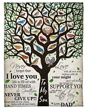 "Gift For Son - To My Son Birth Tree Love Small Fleece Blanket - 30"" x 40"" front"