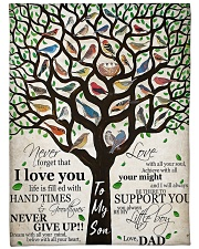 Gift For Son - To My Son Birth Tree Love Fleece Blanket tile