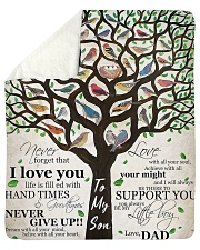 """Gift For Son - To My Son Birth Tree Love Sherpa Fleece Blanket - 50"""" x 60"""" thumbnail"""