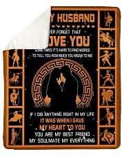"Gift For Husband - To My Husband Sparta Sherpa Fleece Blanket - 50"" x 60"" thumbnail"